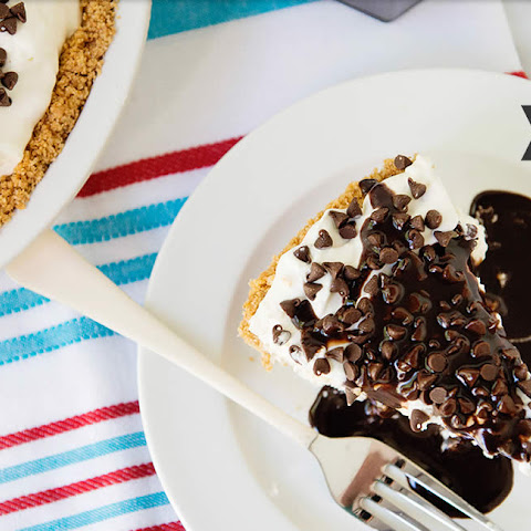 Frozen S'mores Ice Cream Pie