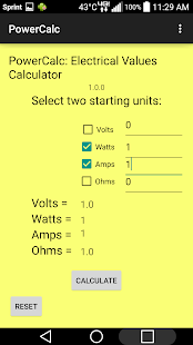 PowerCalc: Electric Calculator - screenshot
