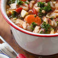 Rustic Turkey Minestrone Soup