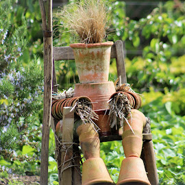 flowerpot man by Sue Rickhuss - Artistic Objects Other Objects