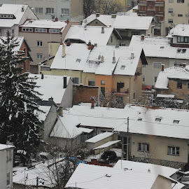 My neighborhoods by Bozica Trnka - City,  Street & Park  Neighborhoods ( roof, snow, street, croatia, neighborhood, zagreb, town )