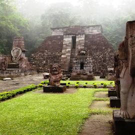 Sukuh temple by Rahmat Nugroho - Buildings & Architecture Statues & Monuments ( mountain, famous place, temple - building, pyramid shape, pyramid, art, antiquities, architecture, arranging, hinduism, gate, indonesian ethnicity, reliquary, indonesia, asia, monument, java, synagogue, indonesian culture )