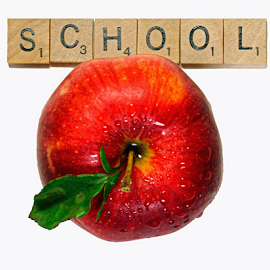 School by Dipali S - Typography Captioned Photos ( headline, graphic, ornate, decorative, illustration, type, decor, calligraphy, quote, inscription, place, note, classic, typographic, template, element, icon, text, creative, decoration, letter, font, art, advertisement, calligraphic, message, sign, frame, school, apple, artistic, word, typography, english, design, back to school )