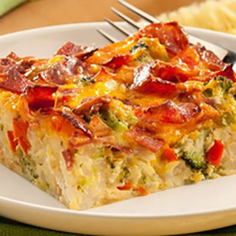 Cheesy Bacon-Hash Brown Bake