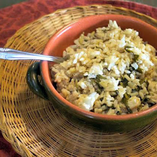 Seasoned Spinach Rice