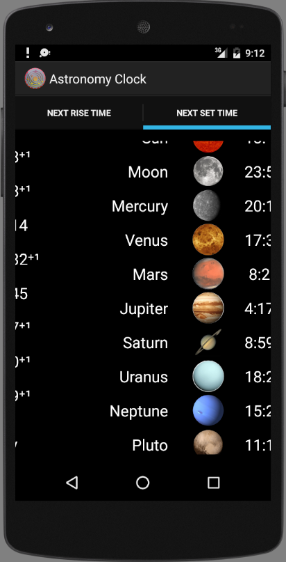 Astronomy Clock Screenshot 2