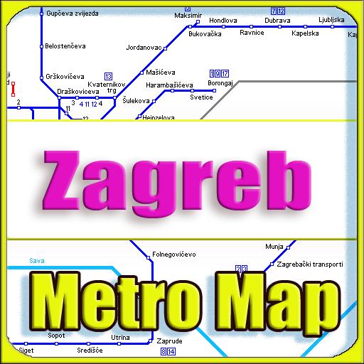 Android aplikacija Zagreb Metro Map Offline na Android Srbija
