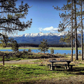 Lake by D.j. Nichols - Instagram & Mobile Android ( mountains, lake, picnic )