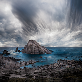 Sugar Loaf Rock by Greg Tennant - Landscapes Waterscapes ( waterscape, cloudscape, travel, ocean view, rocks,  )