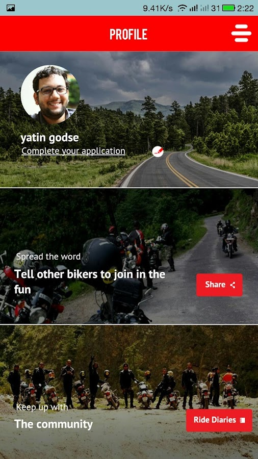 Ride Along-Biker's Cricket App Screenshot 5