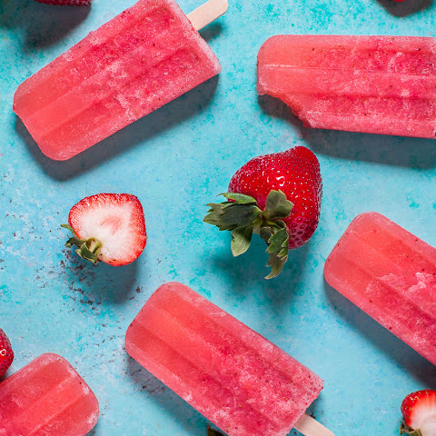 Strawberry Moscato Popsicles