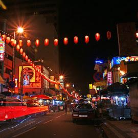 China Town Street by Mulawardi Sutanto - City,  Street & Park  Night ( kl, street, night, china twon, travel, malaysia )