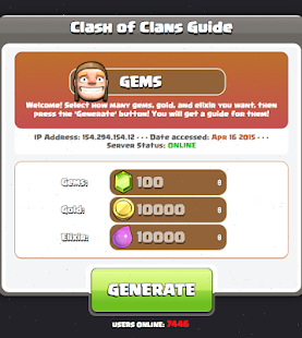 Gems Guide in Coc Game - screenshot