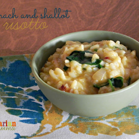 Spinach and Shallot Risotto – #glutenfree