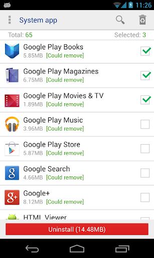 System app uninstaller screenshot 1