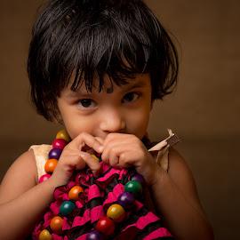 Naughty by Subhasis Mukherjee - Babies & Children Child Portraits ( child, girl, play, game, baby, cute, kid )