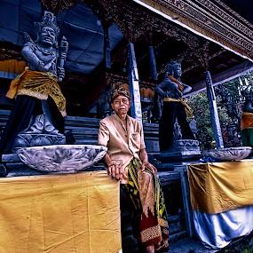 Temple Guardian  by Harris Daniel - People Portraits of Men