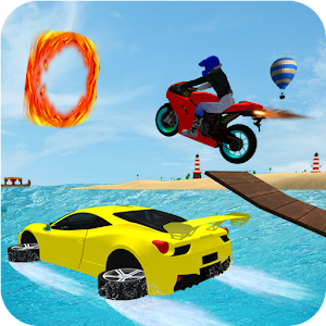 Download Water Car VS Bike Race For PC Windows and Mac