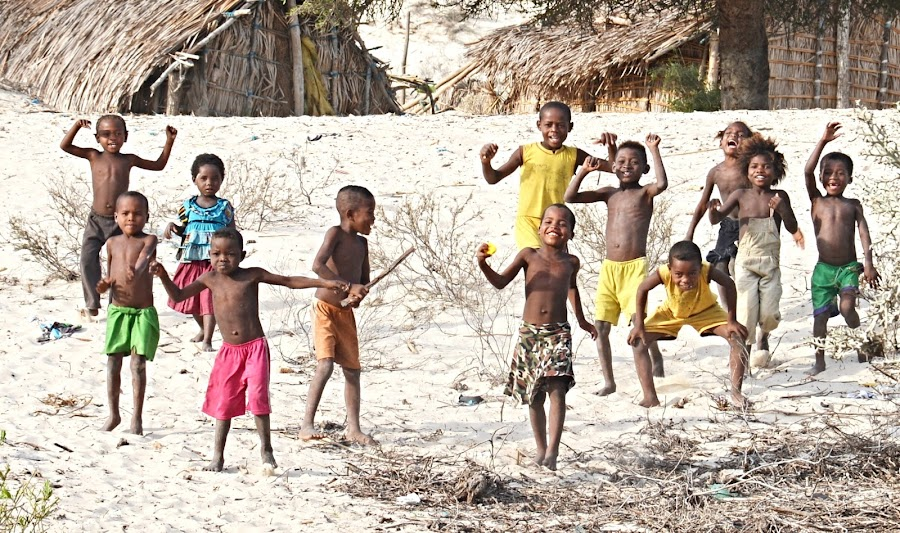 It is so easy to be happy. by Marcel Cintalan - Babies & Children Children Candids ( enjoyment, children, happiness, beach, smile, running, madagascar )