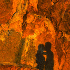 Shadow of love in the Sunset by Andre Minoretti - Digital Art Places ( love, cap ke ga, shadow, mui ke ga, digital art, vietnam, rock )