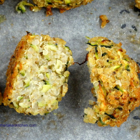 Quinoa, Zucchini And Cheese Balls Gluten Free