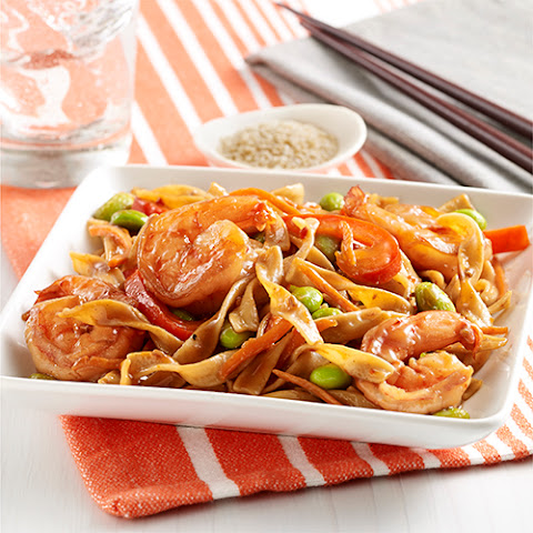 Pan Fried Noodles with Shrimp