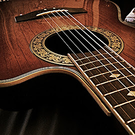 Pamela by Mel Rodriguez - Artistic Objects Musical Instruments ( no filters, lines, guitars, close up, instruments )