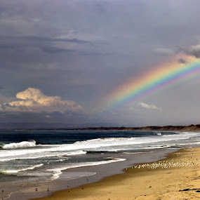 Rainbow Beach by Clyde Smith - Landscapes Beaches ( monterey, beach, rainbow )