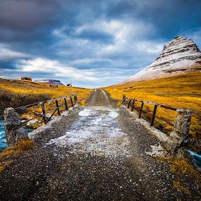 The Old Bridge by Derek Kind - Landscapes Mountains & Hills ( icelandic, kirkjufell, iceland, 2012, bridge )