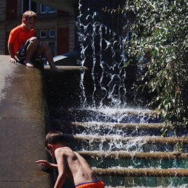 Welcome to the Jungle by Kelly Moore - Babies & Children Children Candids ( fountain, street, water, street photography, kids )
