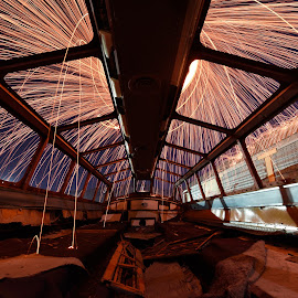 Fire Dome by Givanni Mikel - Abstract Light Painting ( steel wool, dome, train, steel, wool, abandoned )