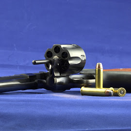 by Cal Brown - Artistic Objects Other Objects ( hand, other object, artistic object, close up, gun, revolver )