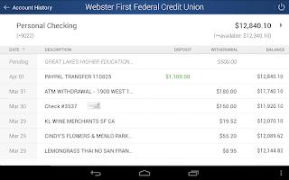 Screenshot of Webster First FCU