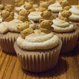 Cinnamon Friendship Cupcake by Nicole Mitchell - Food & Drink Cooking & Baking ( bear, cupcake, cinnamon, frosting, cinnabon, teddy )