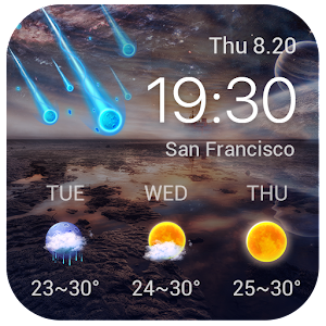 Download Best Galaxy Live Weather Widge