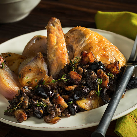 Shallot-Thyme-Black Olive Stuffing