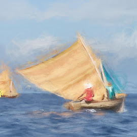 by Al Duke - Digital Art Places ( sailing )