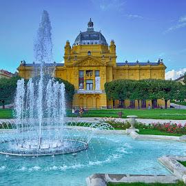 King Tomislav square in Zagreb by Gordana Trošić-Kliska - Buildings & Architecture Public & Historical ( hdri, park, street, croatia, travel, square, zagreb, city )