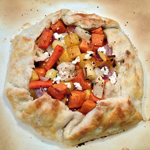 Roasted Root Vegetable Galette with Chèvre and Thyme