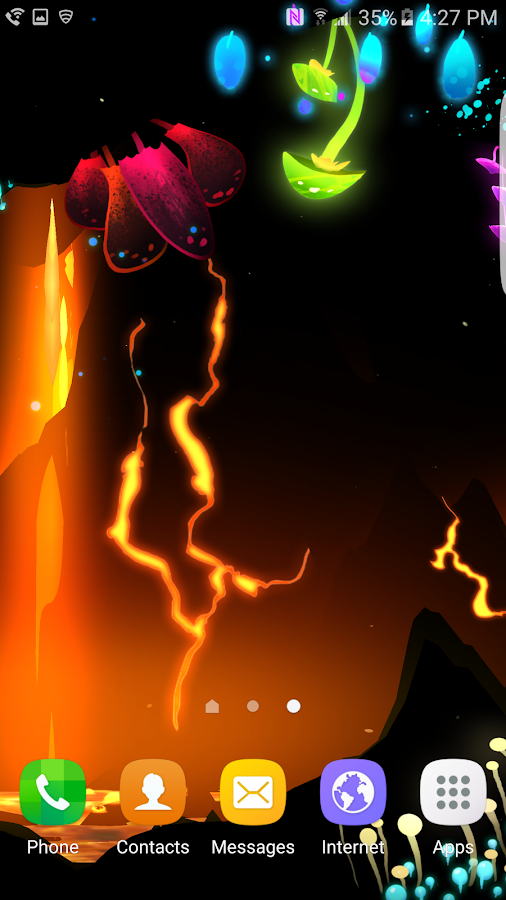 3D Fantasy Epic Lava Cave LWP Screenshot 2