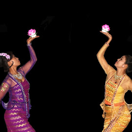 Myanmar Traditional Dancer  by Mrsoe Thuaung - People Musicians & Entertainers ( ladies, performer, beauty, dancer, entertainer )