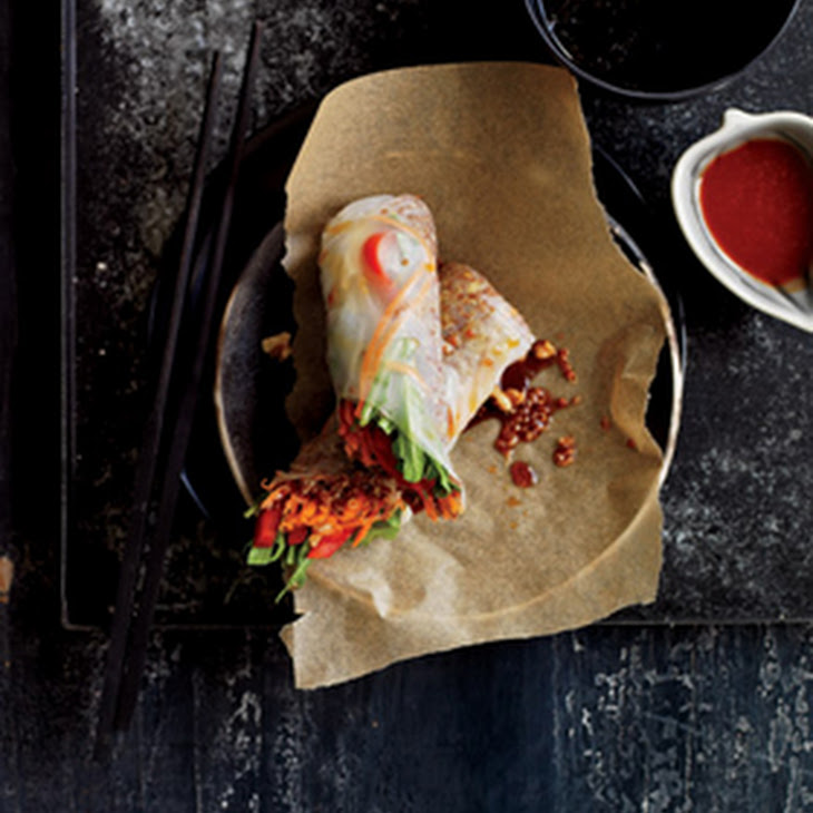 Sesame Ginger Quinoa Spring Rolls Recipe | Yummly