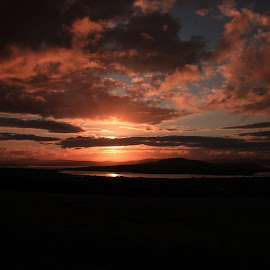 Sunsetting over Inch Island Co,Donegal  by Chris Mcgurgan - Novices Only Landscapes