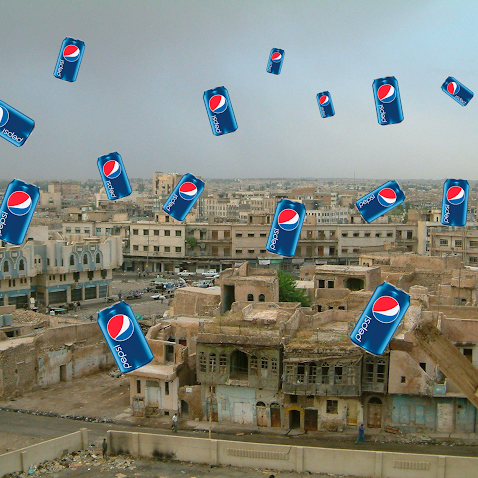 US Fight Jets Drop 200 Cans of Pepsi Over West Mosul