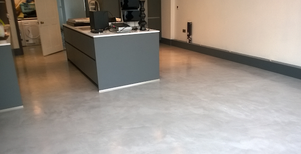 Microcement finish to diner kitchen in Leicester  UK