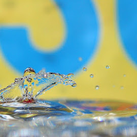 waterdrop letters by Paul Wante - Abstract Water Drops & Splashes ( abstract, splash, waterdrop, blue, umbrella, yellow )