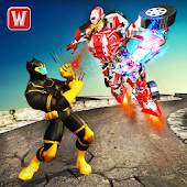 Flying Panther Superhero VS Transform Robot Battle APK for Bluestacks