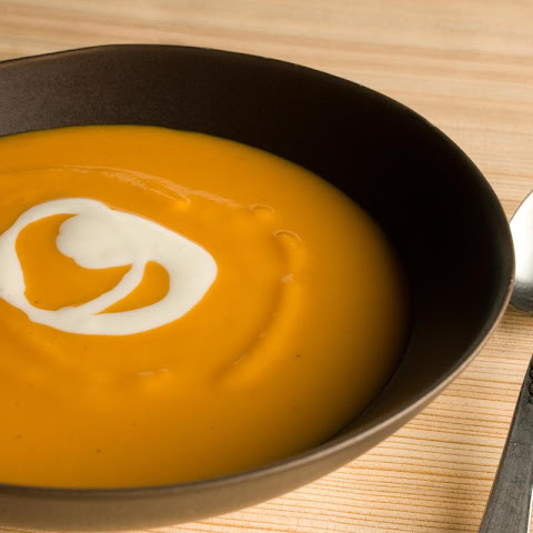 Sweet Potato–Star Anise Soup with Ginger Cream