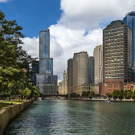Чикаго by Nadejda Daneva - Buildings & Architecture Office Buildings & Hotels ( град, архитектура, вода, чикаго, сгради, река )