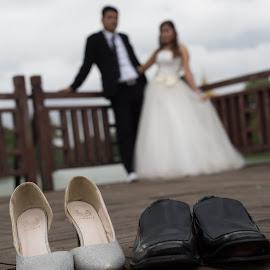 Just Married by John Htet - Wedding Bride & Groom ( myanmar, wedding, pre wedding, blur, photography )